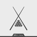 Billiard icon for web and mobile