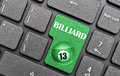 Billiard on keyboard green d number Stock Photos