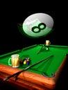 Billiard party Royalty Free Stock Photo