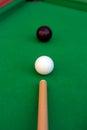 Billiard or pool game winning shot Royalty Free Stock Photo