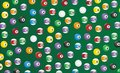 Billiard seamless pattern suitable for decorations Stock Photos