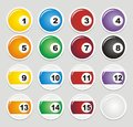 Billiard stickers suitable for user interface Stock Photography