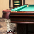 Billiard table сorner of a pocket Stock Images