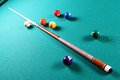 Billiard table. Royalty Free Stock Photo