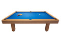 Billiard table with balls for the game. Royalty Free Stock Photos