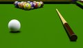 Billiard table d rendering of close up Stock Images