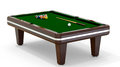Billiard table d rendering of on white background Royalty Free Stock Photos