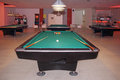 Billiard table in an empty hall to play Royalty Free Stock Image