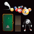 Billiard time Royalty Free Stock Photos
