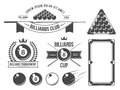 Billiards accessories and emblems