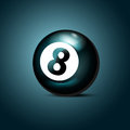 Billiards eight ball vector illustration Royalty Free Stock Images