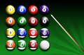 Billiards illustration of balls Royalty Free Stock Images