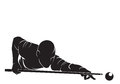 Billiards player vector silhouette isolated on white Royalty Free Stock Photos