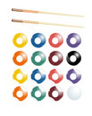 Billiards, Pool Vector set Stock Images