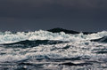 Billow stormy waves on the surface of the ocean Stock Images