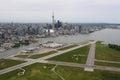 Billy bishop airport toronto ontario low flying around Stock Photo