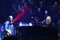 Billy joel new york apr singer songwriter performs in concert at madison square garden on april in new york city Stock Photo