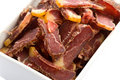 Biltong South-African Dried Meat Snack Royalty Free Stock Images