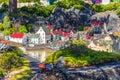 Bilund, Denmark - April 30, 2017: Miniatures in Legoland, Bilund Royalty Free Stock Photo