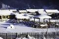 The bimodal forest farm in heilongjiang province - Snow Village Royalty Free Stock Photo