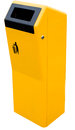 Bin isolated on a white background yellow Royalty Free Stock Photography