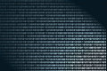 Binary background a showing flowing bits Stock Image