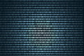 Binary background a showing flowing bits Stock Images