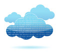 Binary cloud computing concept illustration Royalty Free Stock Photo