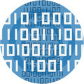 Binary Code Abstract Icon Illustration.