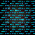 Binary code background concept of information technologies Royalty Free Stock Images
