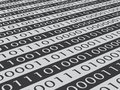 Binary code close up of Royalty Free Stock Photos