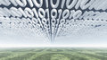 Binary code clouds Stock Image