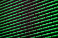 Binary code green blue digital color on black background
