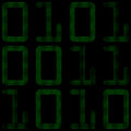 Binary code an illustration of a numbers which are comprised of small numbers of Royalty Free Stock Photo