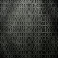 Binary code new futuristic background with perforated on metallic wall Stock Images