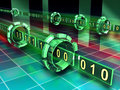 Binary code streams Royalty Free Stock Photo