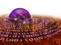 Binary coding planet Royalty Free Stock Image
