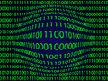 Binary computer code optic deformed illustration of background Royalty Free Stock Image