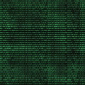 Binary computer code repeating background Royalty Free Stock Images