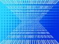 Binary data merge Royalty Free Stock Photo