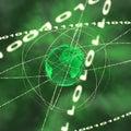 Binary globe Royalty Free Stock Photo
