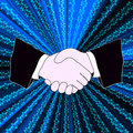 Binary handshake Stock Photography