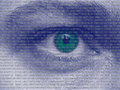 Binary human eye with bits abstract photography Royalty Free Stock Photos