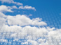 Binary sky Royalty Free Stock Photos