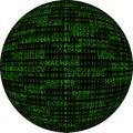 Binary Sphere Royalty Free Stock Photo