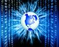 Binary world Royalty Free Stock Photo