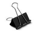 Binder clip black paper isolated on white Royalty Free Stock Photography