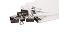 Binder Clips And White Paper III Royalty Free Stock Photo
