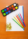Binder and pencils isolated Stock Photography