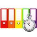 Binders and stopwatch vector illustration of Stock Photos